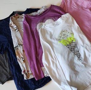 Girls Lot of 6 shirts - size Large 10 / 12